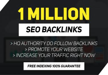 i need someone to do 1million gsa backlinks