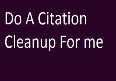 Do A Citation CleanUp For Me
