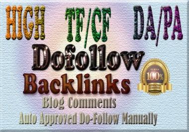 I deliver 40 DA20+ TF5+ Dofollow Comments backlinks