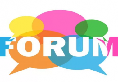 i need 20 unique Forum post backlink for my website