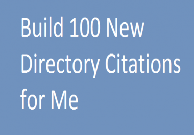 Build 100 New Directory Citations