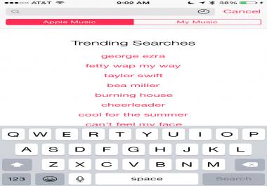 trending artist on apple