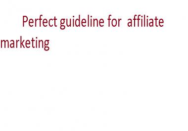 help in affiliate marketing