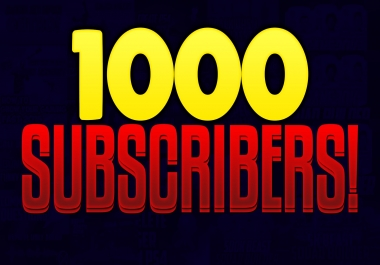 1k 1000 YouTube Channel Subscribers