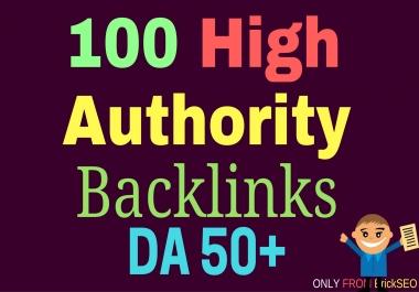 I want GUARANTEED 100 Quality PR 8-10 Backlinks with DA 50+