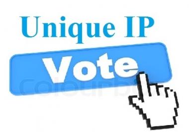 I NEED 500 VOTES WEBSITE DIFFERENT IP