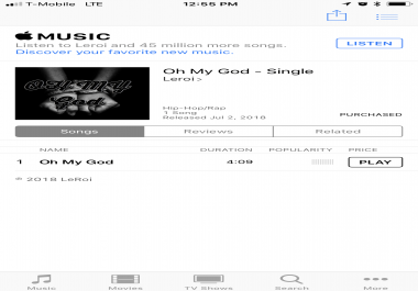 iTunes&nbsp Song purchase
