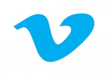 Vimeo likes and followers