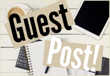 Guest posts on high quality websites