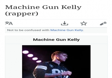 Wikipedia article page creation for a musician