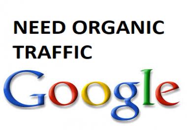 Need organic traffic for 30 days