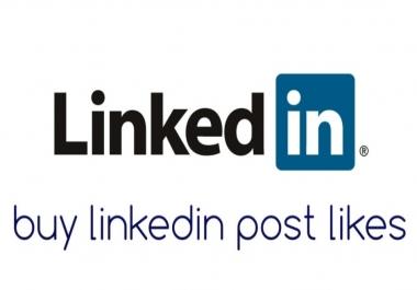 URGENT Need linkedIn post likes