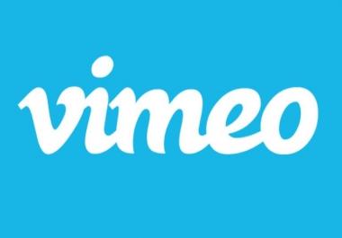 I need non drop 300+ Vimeo followers