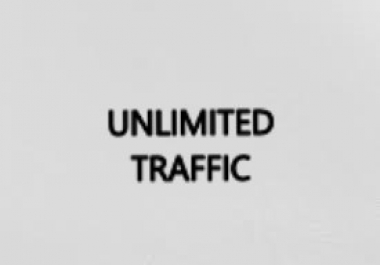need unlimited traffic to my site for 30 days