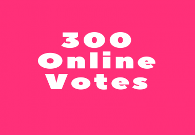 Need 300 online votes in 24 hours for a competition