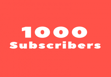 Need 1000 YT subscribers in 24 hours