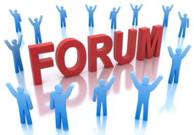 100 forum profiles and 100 forum posts copy - paste