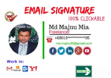 I Will do clickable Html Email Signature