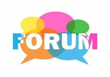 i need 35 niche relevant forum posting