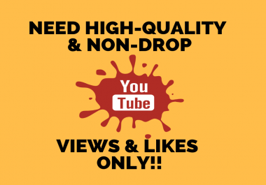 Need High-Quality & Non-Drop YouTube Views ONLY