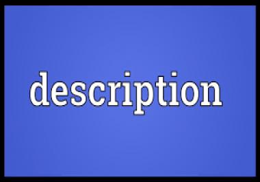 write a description on a websites