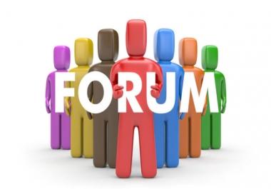 i need niche relevant forum posting