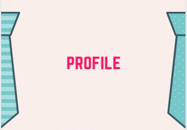 25 profile set up in high da pa domain I will provide the domain