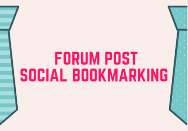 17 forum post and 14 social bookmarking -Manual