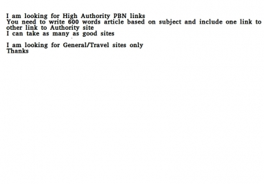 Looking for PBN with High Authority Blogs