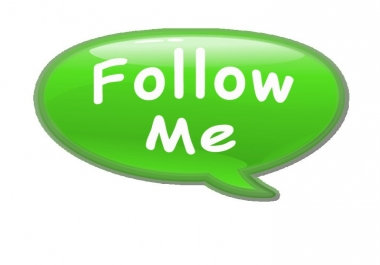 I will follow you on SEOClerk,  Just follow me