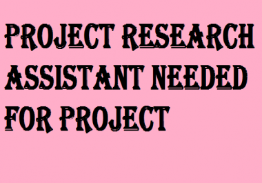 Research Assistant Needed