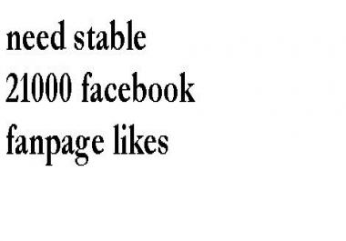 21000 facebook fanpage likes