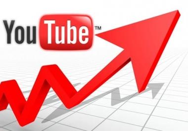 I need 2500 youtube views and 10 likes