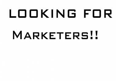 Im looking for some Experianced marketers for my buisness