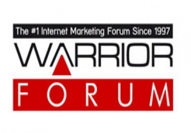 Any Warrior Forum users out there