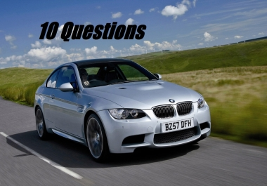 I need 10 Questions on my UK Car Q& A Site