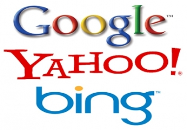 Need to get indexed by Google,  Yahoo and Bing