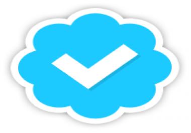 Verified blue badge my twitter account