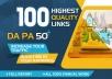 Get 100+highest Quality link all 50DA+
