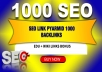 Seo Link Pyramid 1000 link PLUS EDU links as bonus