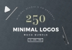 250 Minimal Logos Template with FULL rights