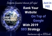 Will Do Seo backlinks & Rank your website on Top of google with 2019 seo Strategy