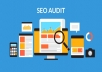 SEO Audit Deep SEO audit on your site and an action plan to get higher results!