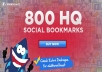 Add your site to 800 SEO social bookmarks HQ backlinks + ping