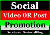 High Quality Video and Post Promotion with Social media Marketing