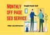 Monthly Off Page SEO Backlinks Package Updated Latest 1st Page Google Algorithms Websites Keywords