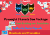 Powerful 3 Levels SEO - 1000 Social Signals - PBN Backlinks, Shoutouts, Wordwide Promotion
