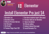 Install The Elementor Pro Page Builder ,Plugging