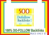 Manage & add 500++ Do-follow Backlinks mix platforms for Your Websites