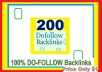 Manage & add 200 Do-follow Backlinks (mix platforms) for Your Websites